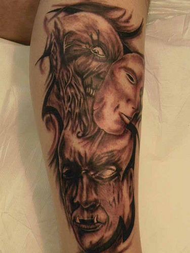 Top Dessin Bras Homme Tatouage Avant Interieur Lime Board Tattoo ...
